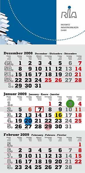 """3-Monats-Kalender """"Maxi"""" 2021"""