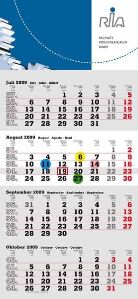 4-Monats-Kalender 2021