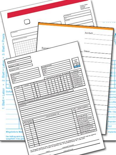Durchschreibesätze | SD-Sätze | Durchschreibeblöcke | SD-Blöcke in Sonderfarben  und 4C