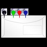 Kuvertierhüllen  in ALLEN Formaten, mit / ohne Fenster nach HKS / Pantone