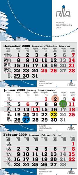 """3-Monats-Kalender """"Maxi flex"""" 2021"""