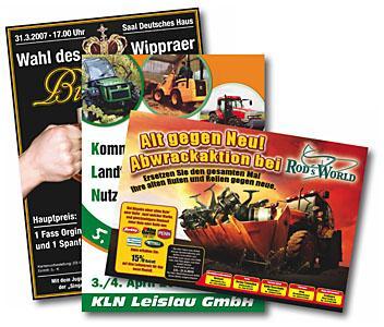Flyer (Flugblätter) in Kleinauflagen (Digitaldruck)
