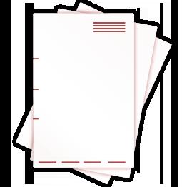 Briefbögen nach Euroskala (CMYK) ggfs. mit zusätzlichen Schmuckfarben (HKS / Pantone)