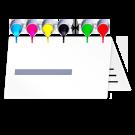 Visitenkarten als Klappkarte nach Euroskala (CMYK) ggfs. mit ergänzenden Sonderfarben (HKS und Pantone)