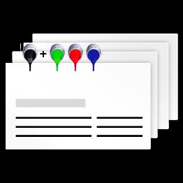 Visitenkarten Geschäftskarten In Schmuckfarben Hks Und