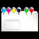 Briefumschläge in ALLEN Formaten, mit / ohne Fenster, 4farbig nach Euroskala (CMYK)