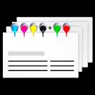 Visitenkarten nach Euroskala (CMYK) ggfs. mit ergänzenden Sonderfarben (HKS und Pantone)